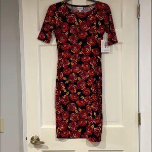 LuLaRoe multi-colored floral dress XXS NWT